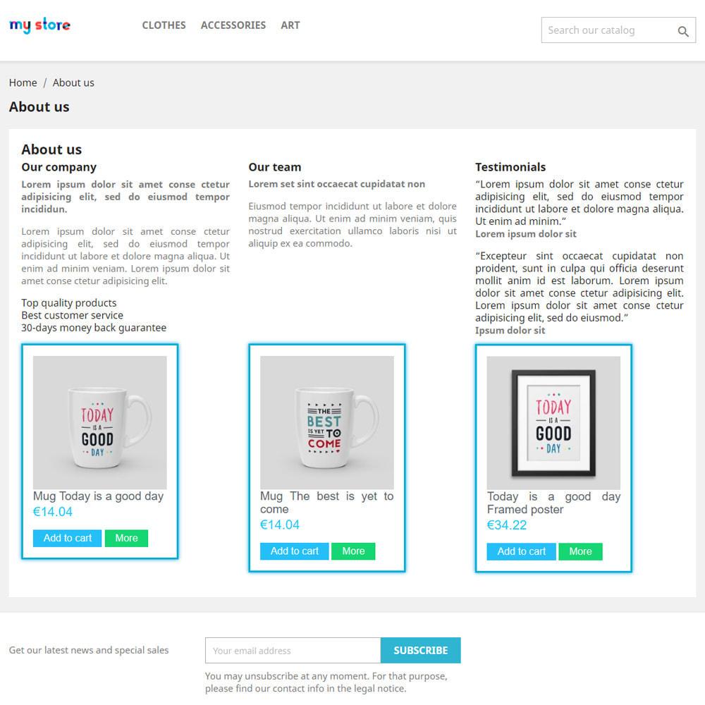 module - Produits en page d'accueil - Produits sur les pages CMS - 2
