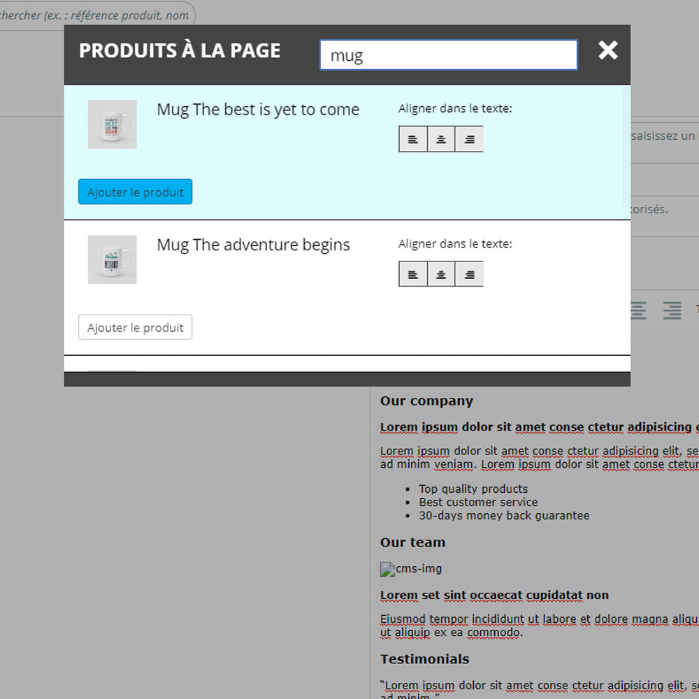 module - Produits en page d'accueil - Produits sur les pages CMS - 5