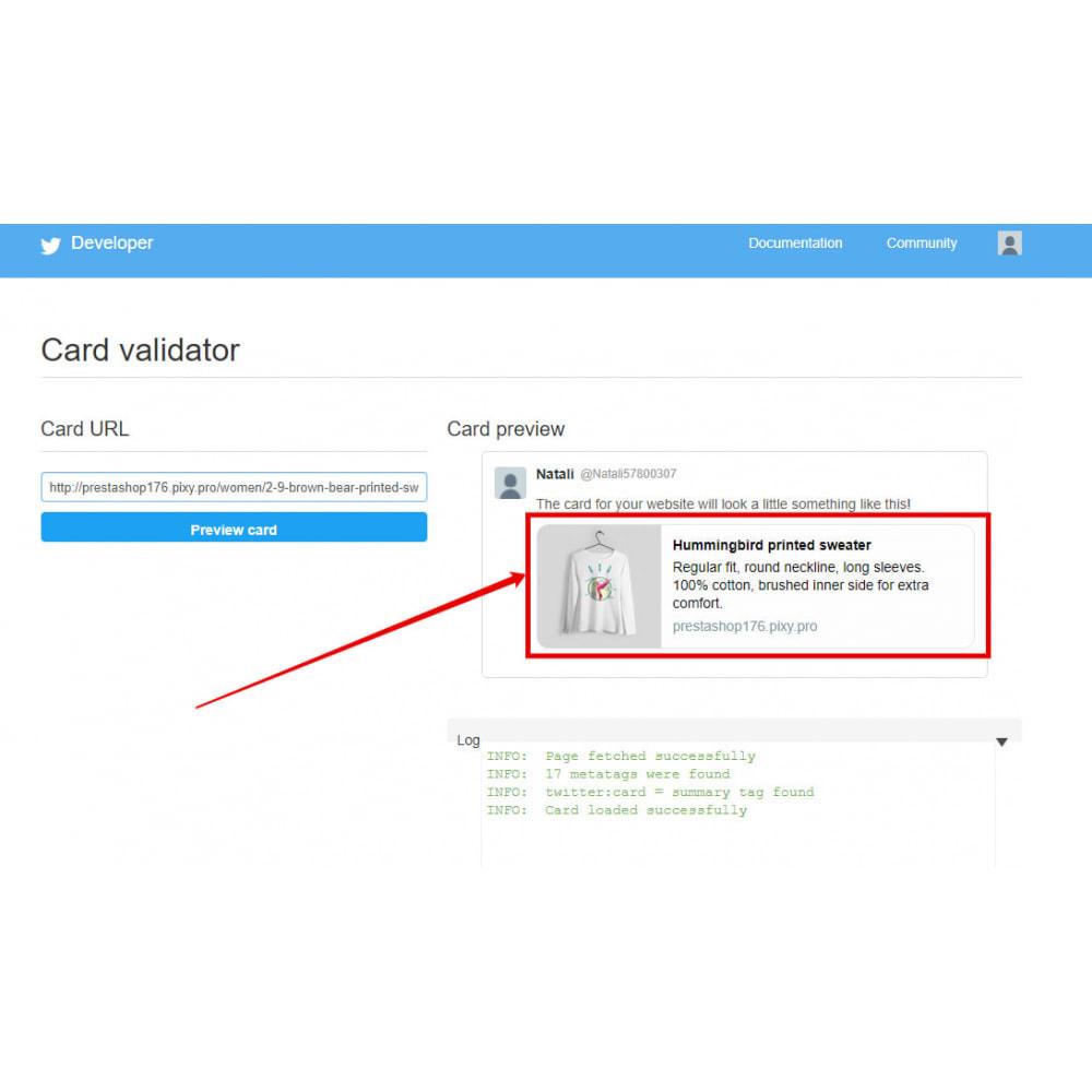 module - Boutons de Partage & Commentaires - Open Graph protocol (Twitter Card, Pinterest) - 8