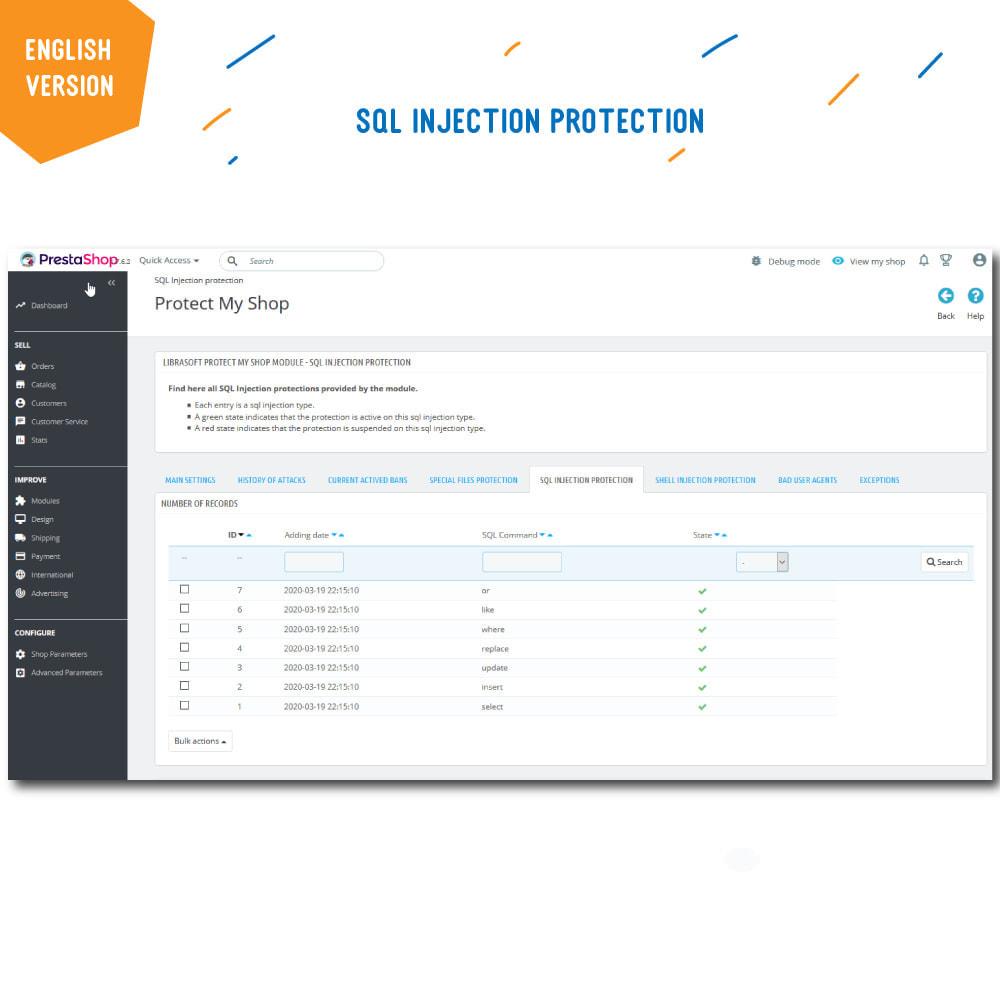 module - Segurança & Acesso - Protect My Shop - 6