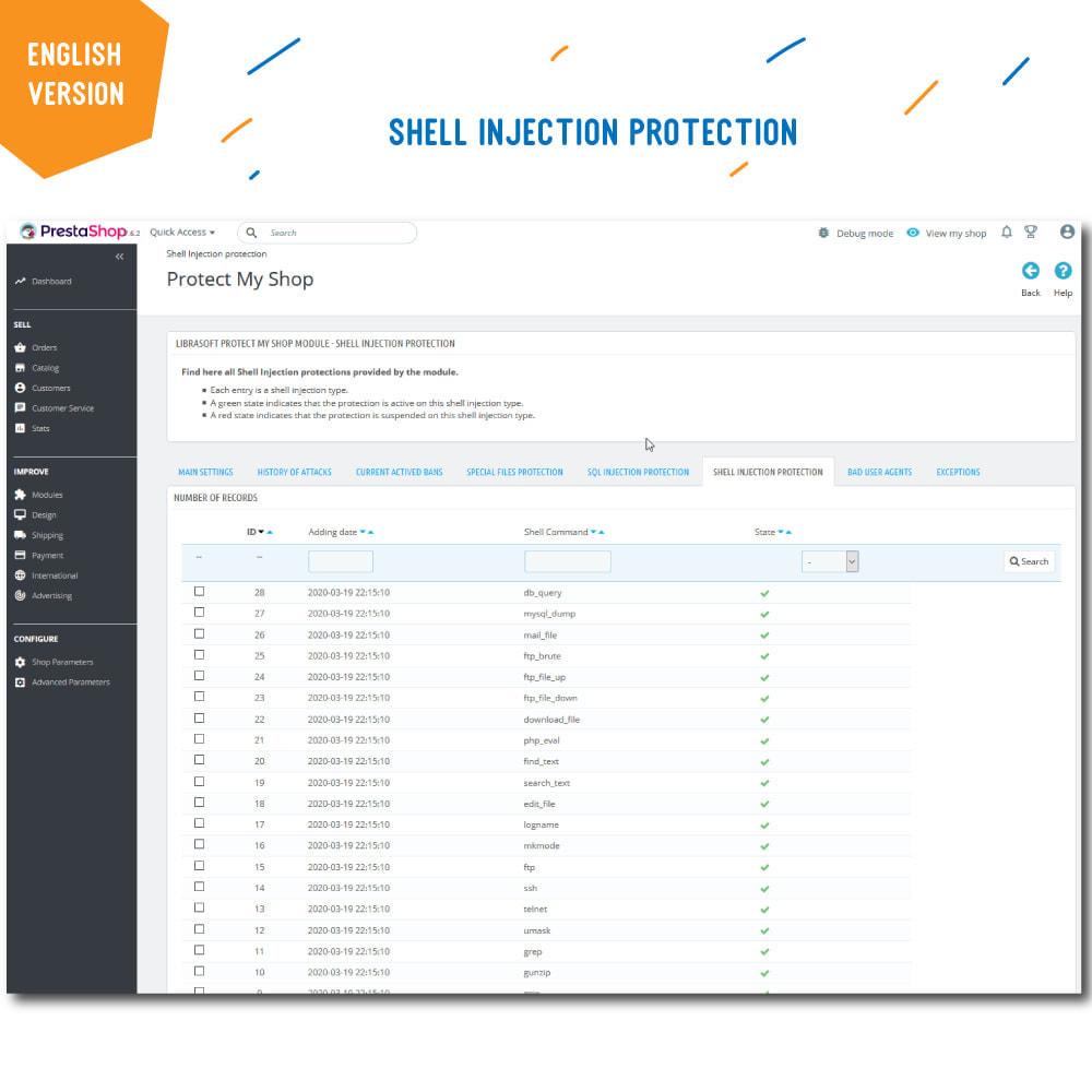 module - Segurança & Acesso - Protect My Shop - 7