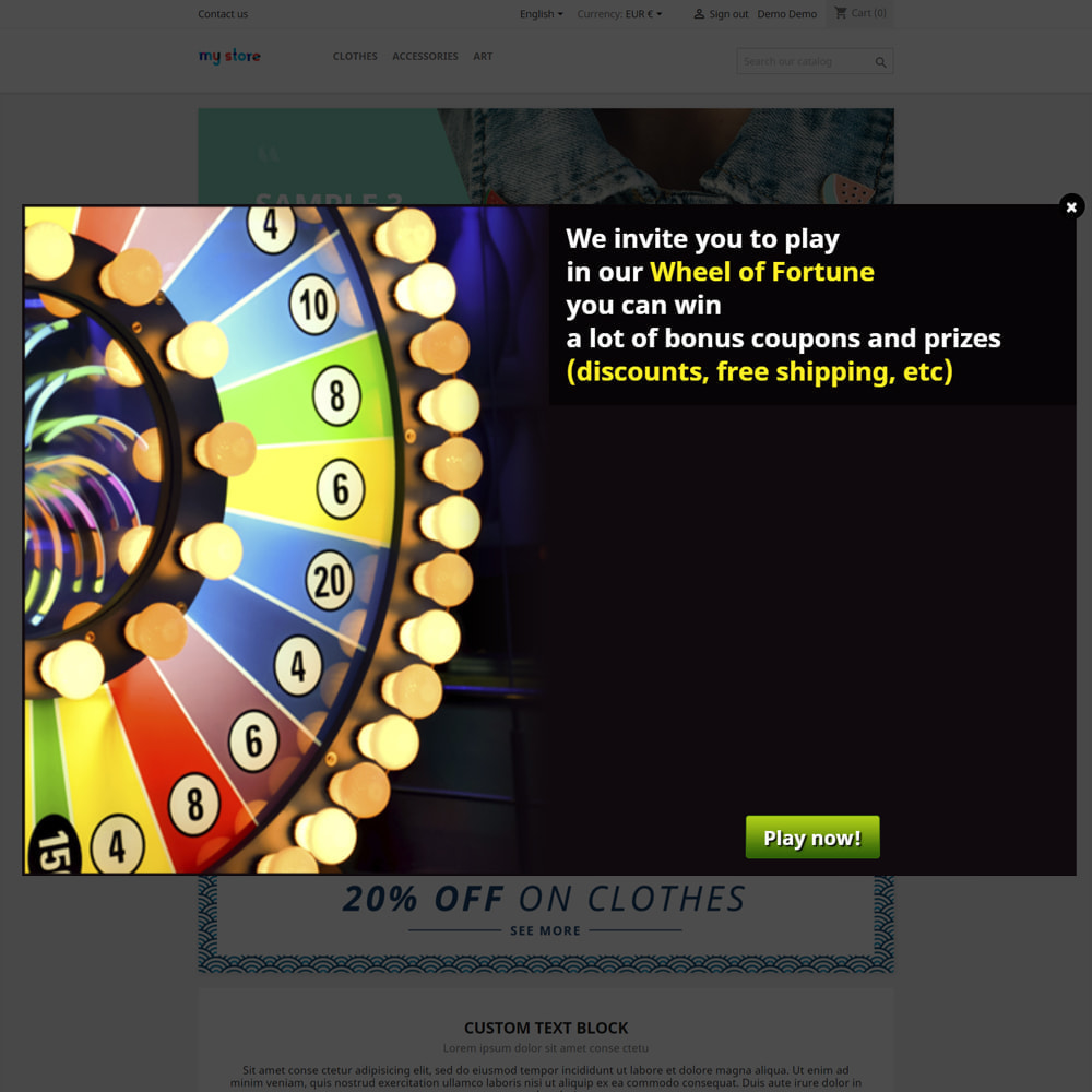 module - Jogos para os Clientes - Wheel of Fortune, discounts and gifts to customers - 2