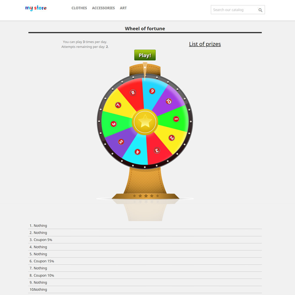 module - Jogos para os Clientes - Wheel of Fortune, discounts and gifts to customers - 3