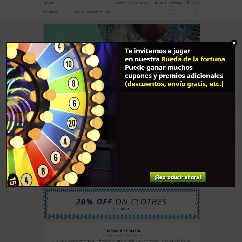 module - Concurso - Wheel la Fortuna, descuentos y regalos a los clientes - 2