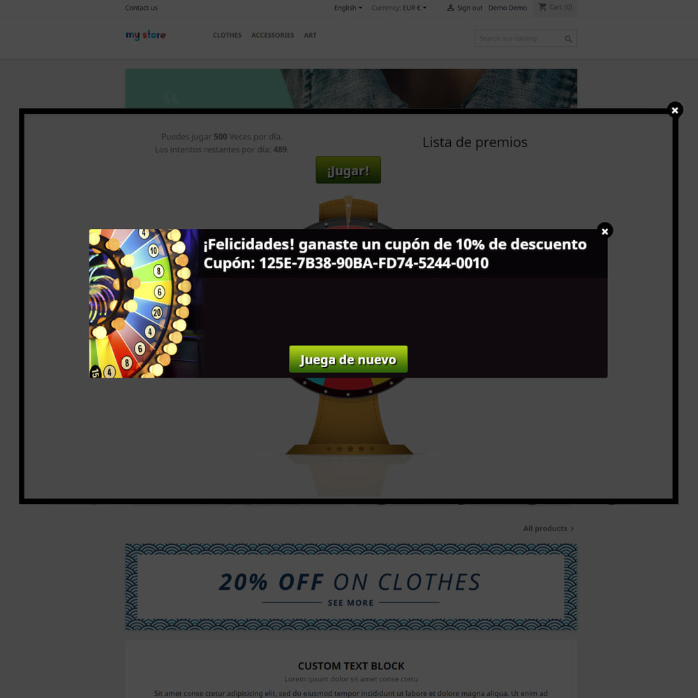 module - Concurso - Wheel la Fortuna, descuentos y regalos a los clientes - 7