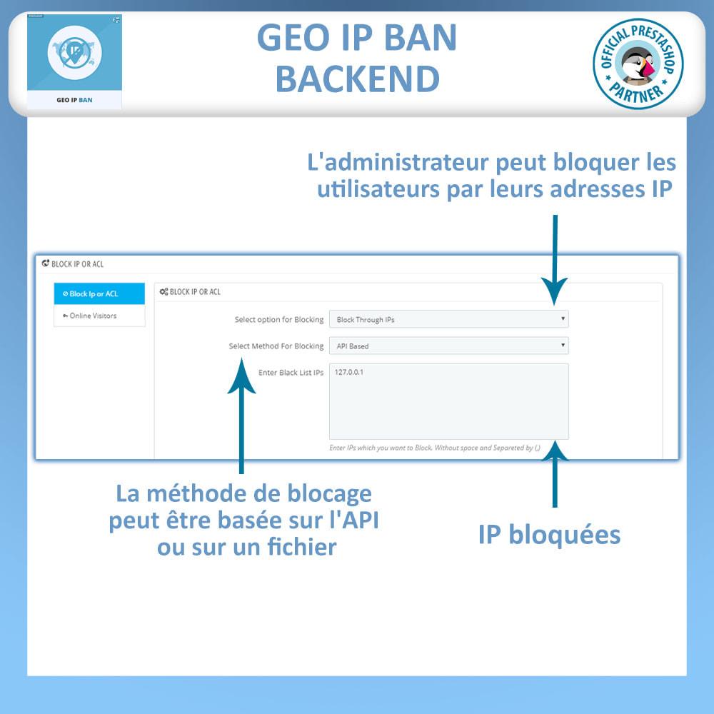 module - Sécurité & Accès - Bloquer les Bots et les Utilisateurs par IP ou pays - 1