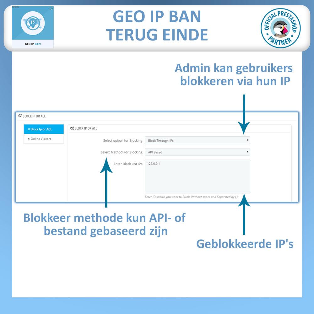 module - Veiligheid & Toegang - Geo IP Verbod - Blokkeer Robots en Gebruikers - 1