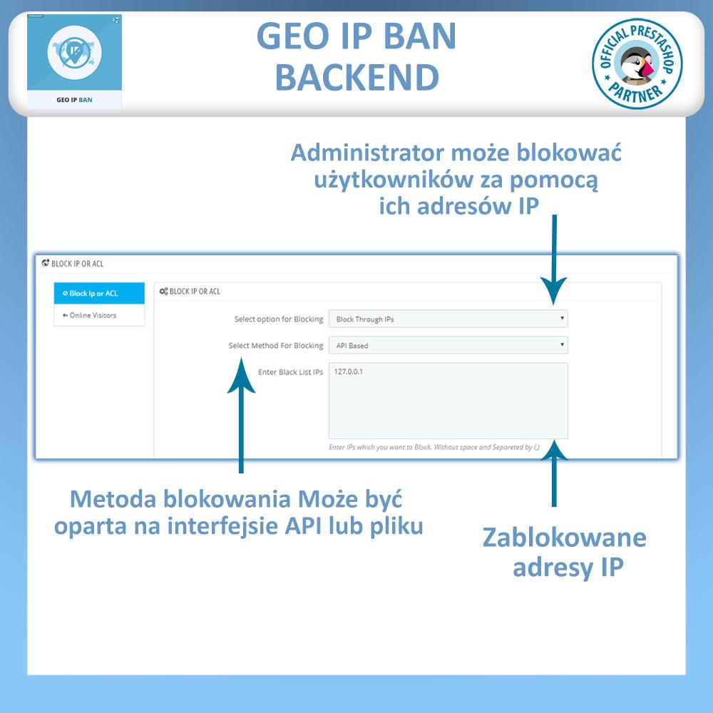 module - Bezpieczeństwa & Dostępu - Blokuj boty i użytkowników w oparciu IP lub kraj - 1