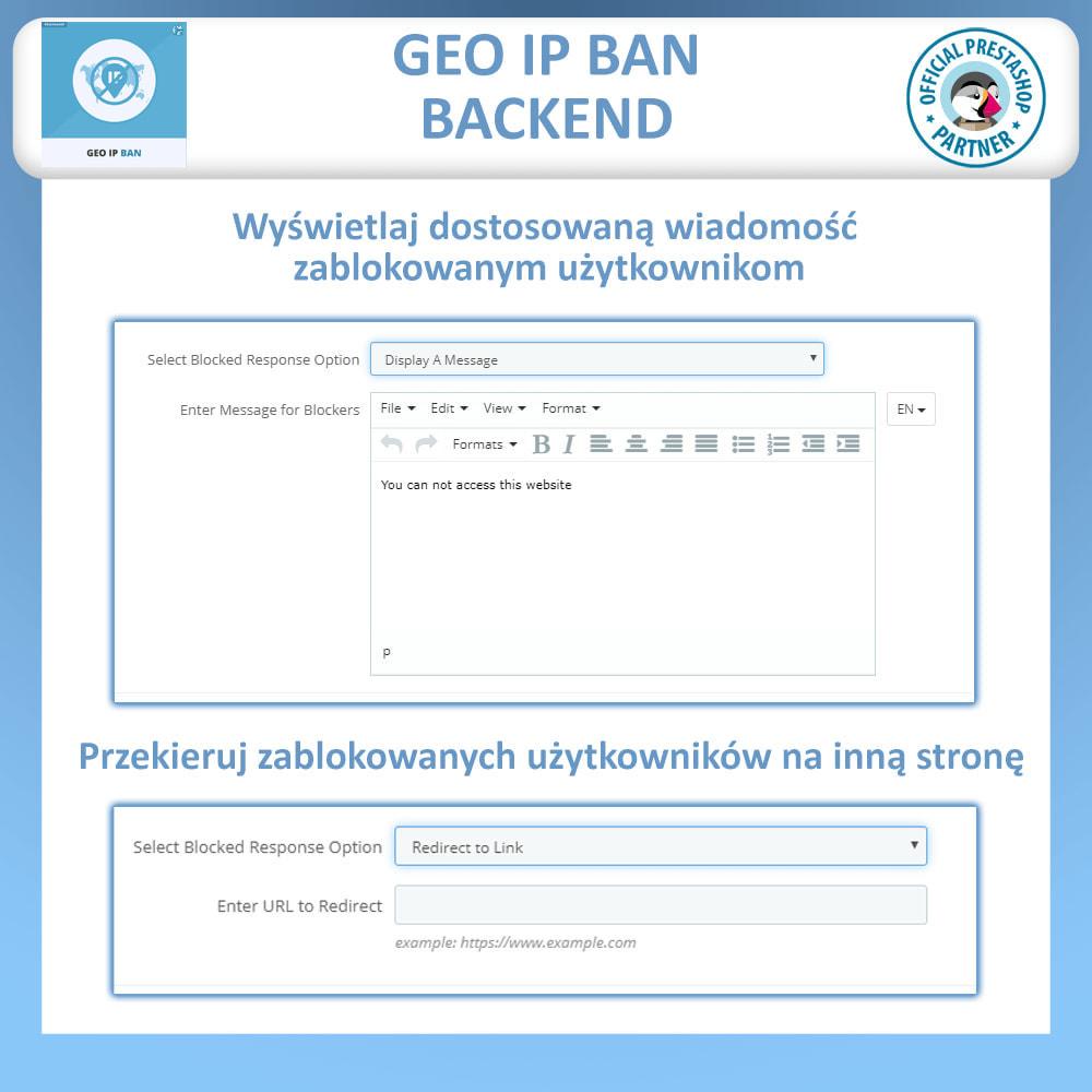 module - Bezpieczeństwa & Dostępu - Blokuj boty i użytkowników w oparciu IP lub kraj - 3