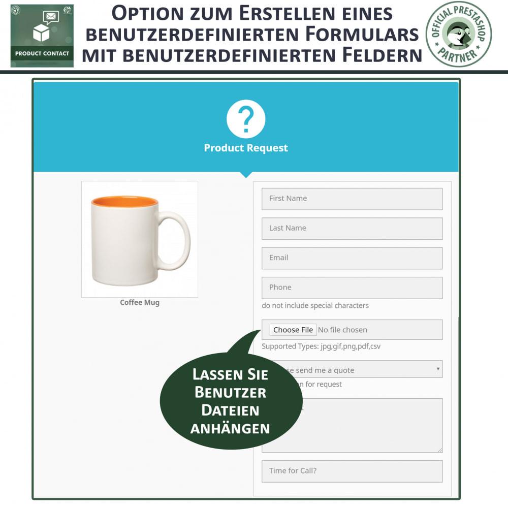 module - Kontaktformular & Umfragen - Produkt Kontakt - Anfrageformular - 4