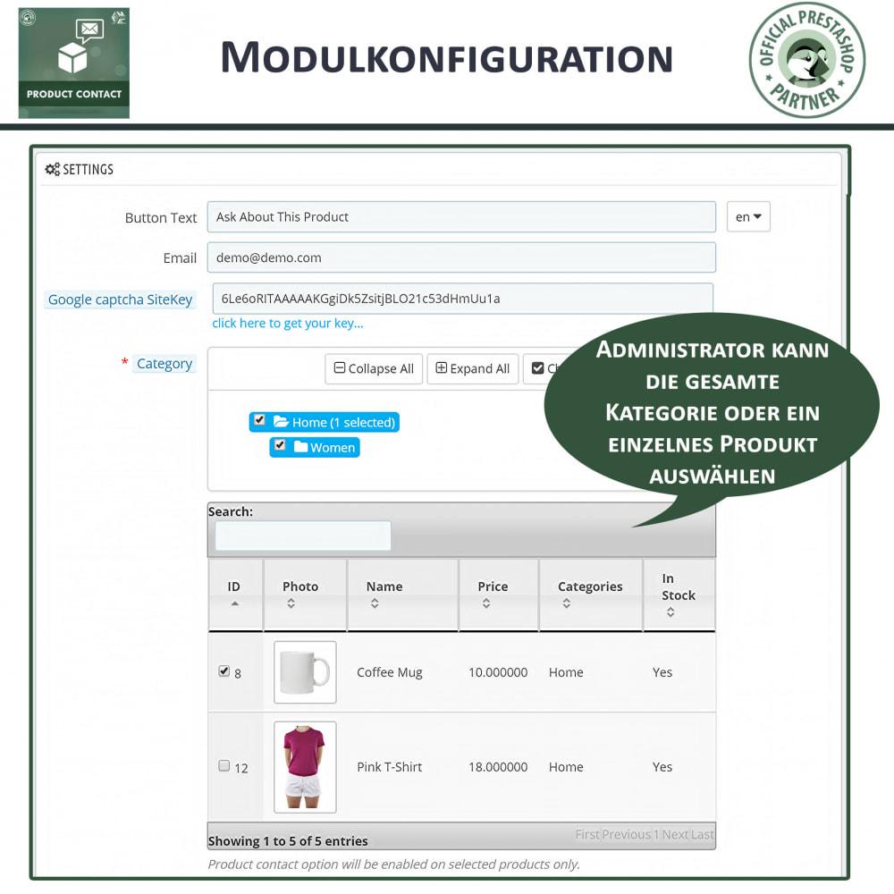 module - Kontaktformular & Umfragen - Produkt Kontakt - Anfrageformular - 6