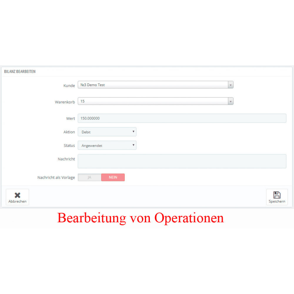 module - Zahlung per Kreditkarte oder Wallet - Interner Benutzerbilanz UserBalance - 7