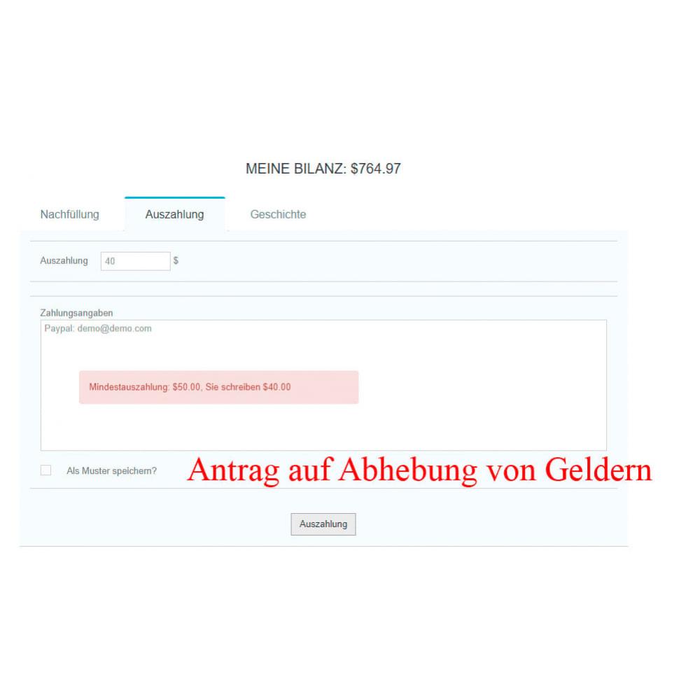 module - Zahlung per Kreditkarte oder Wallet - Interner Benutzerbilanz UserBalance - 11