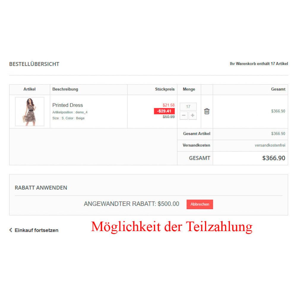 module - Zahlung per Kreditkarte oder Wallet - Interner Benutzerbilanz UserBalance - 15
