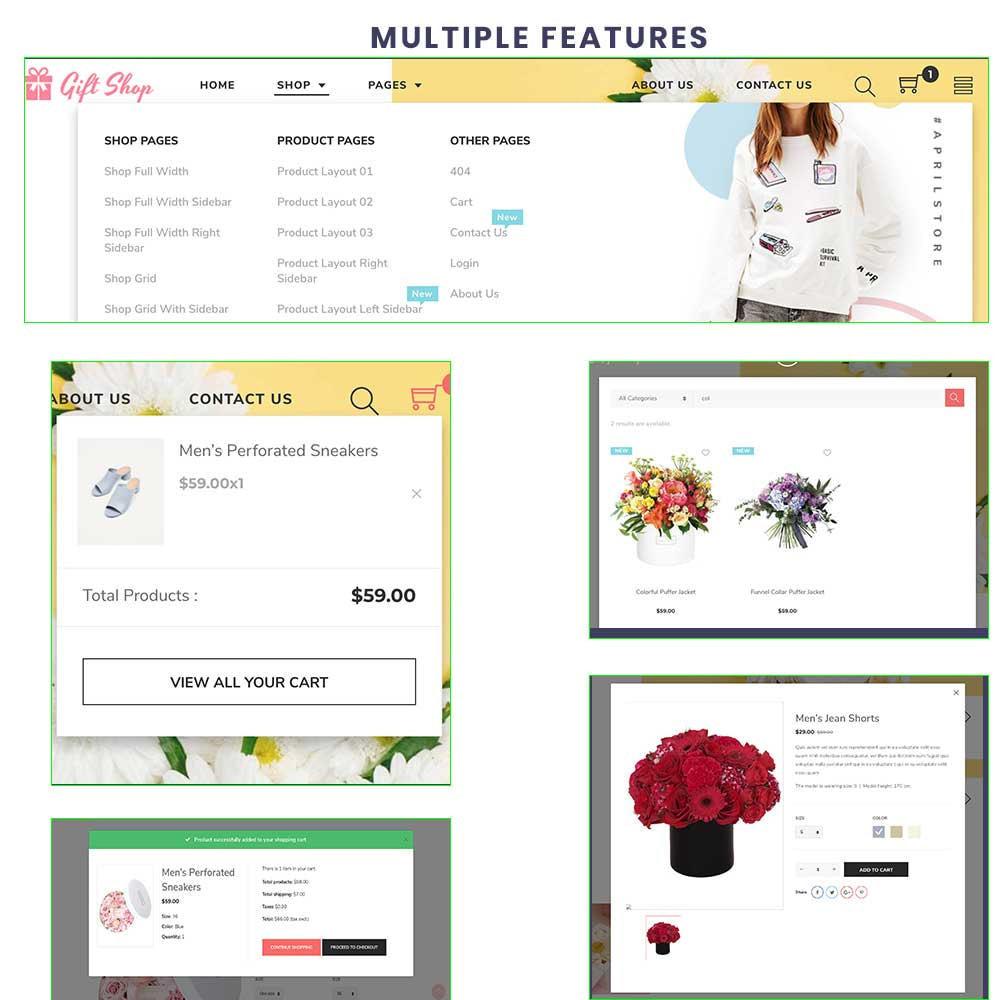 theme - Regali, Fiori & Feste - Flower Store eCommerce Bootstrap 4 - 5