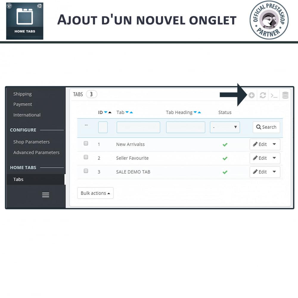 module - Blocs, Onglets & Bannières - Onglets d'accueil - 5