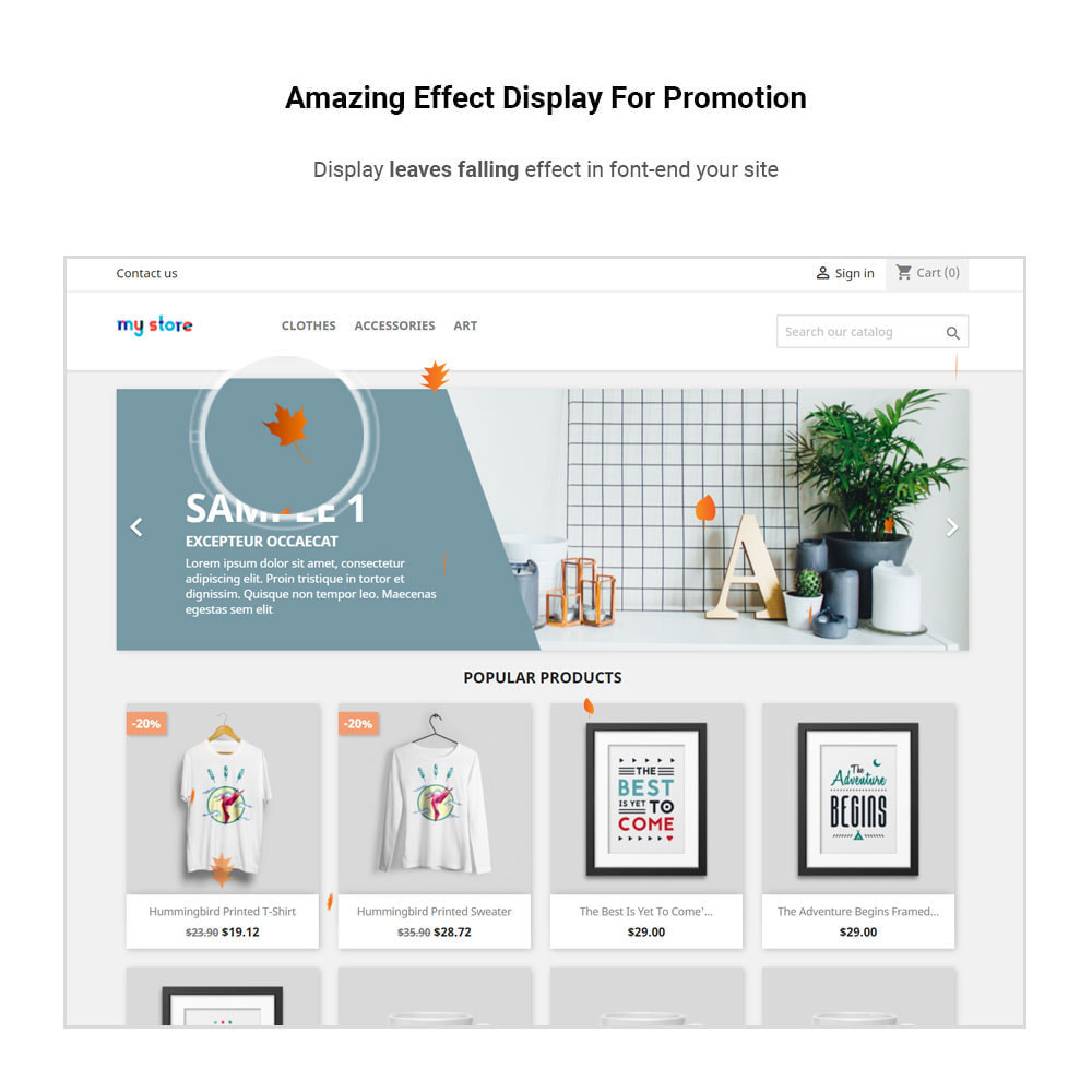 module - Personnalisation de Page - Rb Add Effect - Multipurpose for Events & Promotions - 1