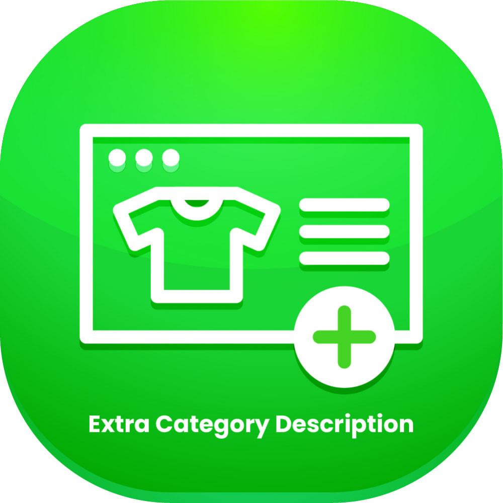 module - Zusatzinformationen & Produkt-Tabs - Extra Category Description - 1