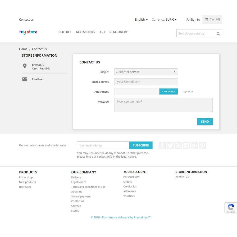 module - Iscrizione e Processo di ordinazione - Google reCAPTCHA v3 - stop spam - 3