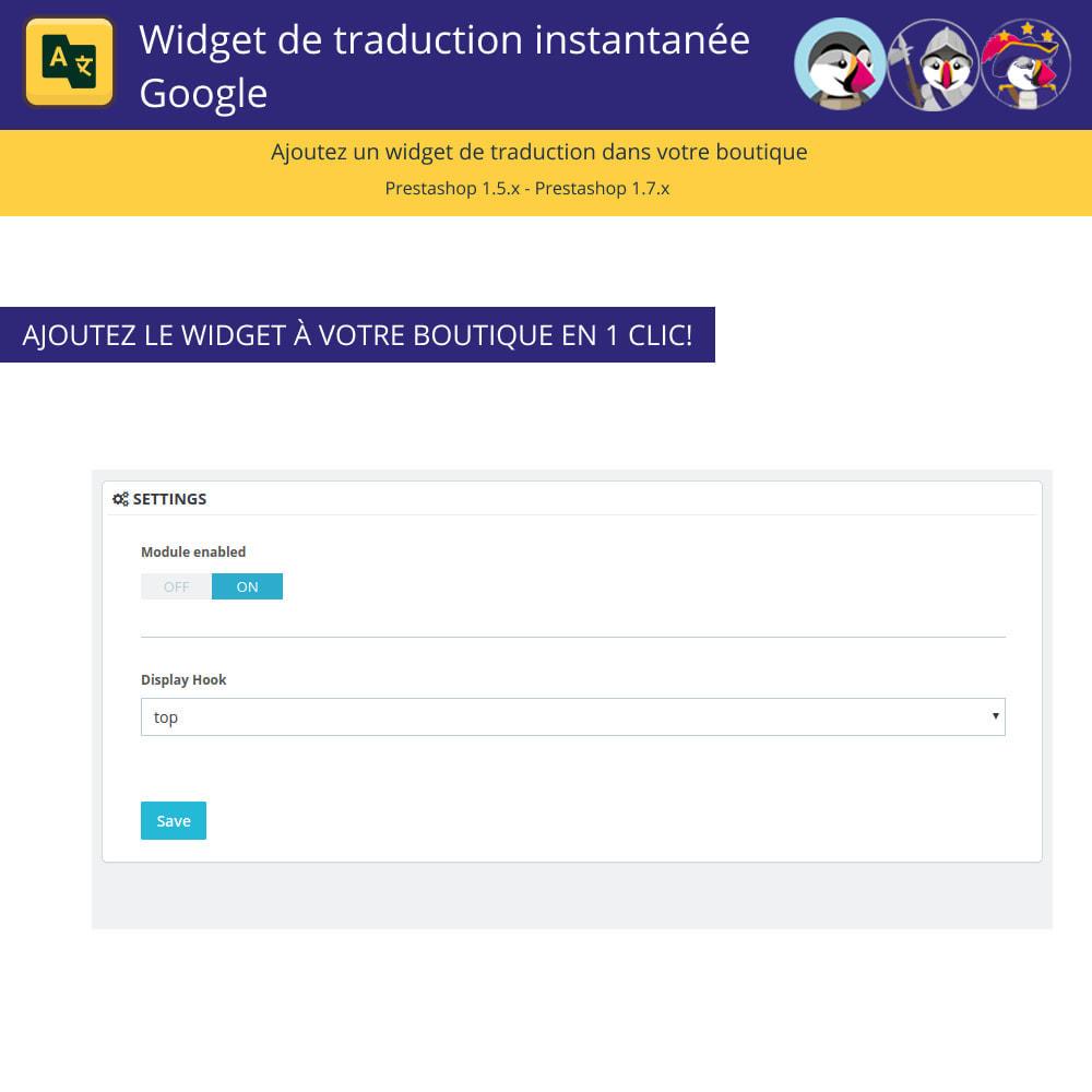 module - International & Localisation - Google Translate Widget - 2