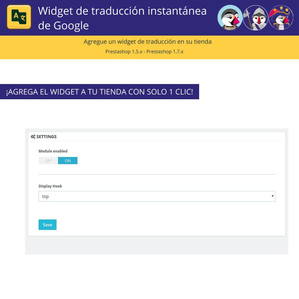 module - Internacionalización y Localización - Google Translate Widget - 2