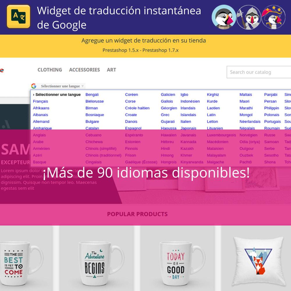 module - Internacionalización y Localización - Google Translate Widget - 3