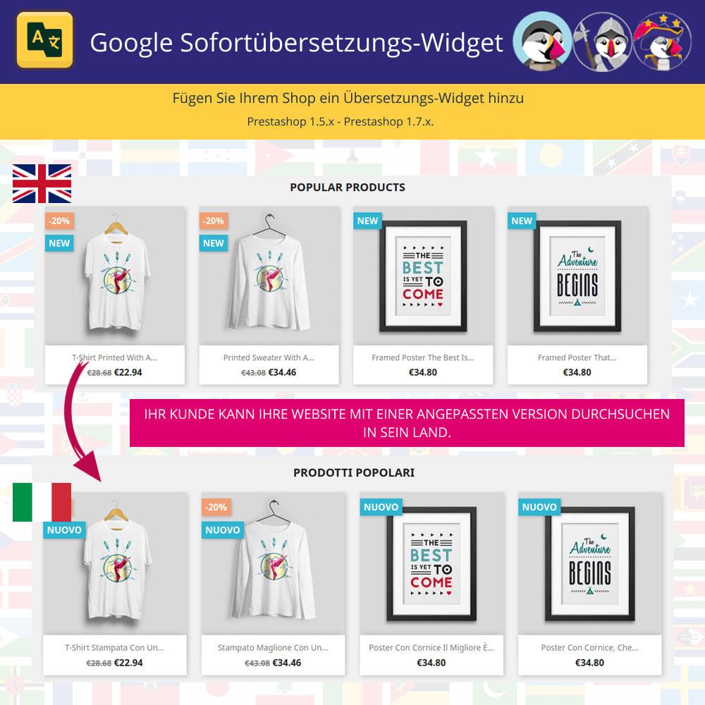 module - Internationalisierung & Lokalisierung - Google Translate Widget - 1