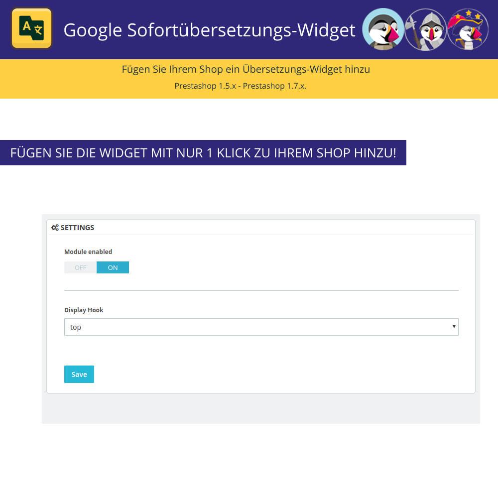 module - Internationalisierung & Lokalisierung - Google Translate Widget - 2