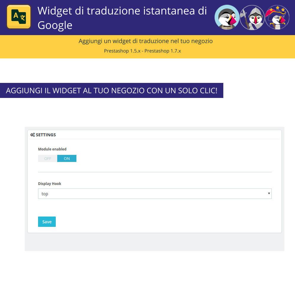 module - Lingue & Traduzioni - Google Translate Widget - 2