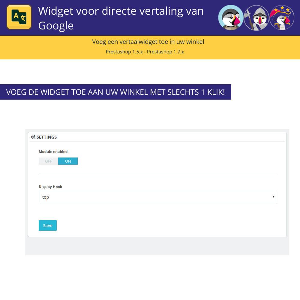 module - Internationaal & Lokalisatie - Google Translate Widget - 2