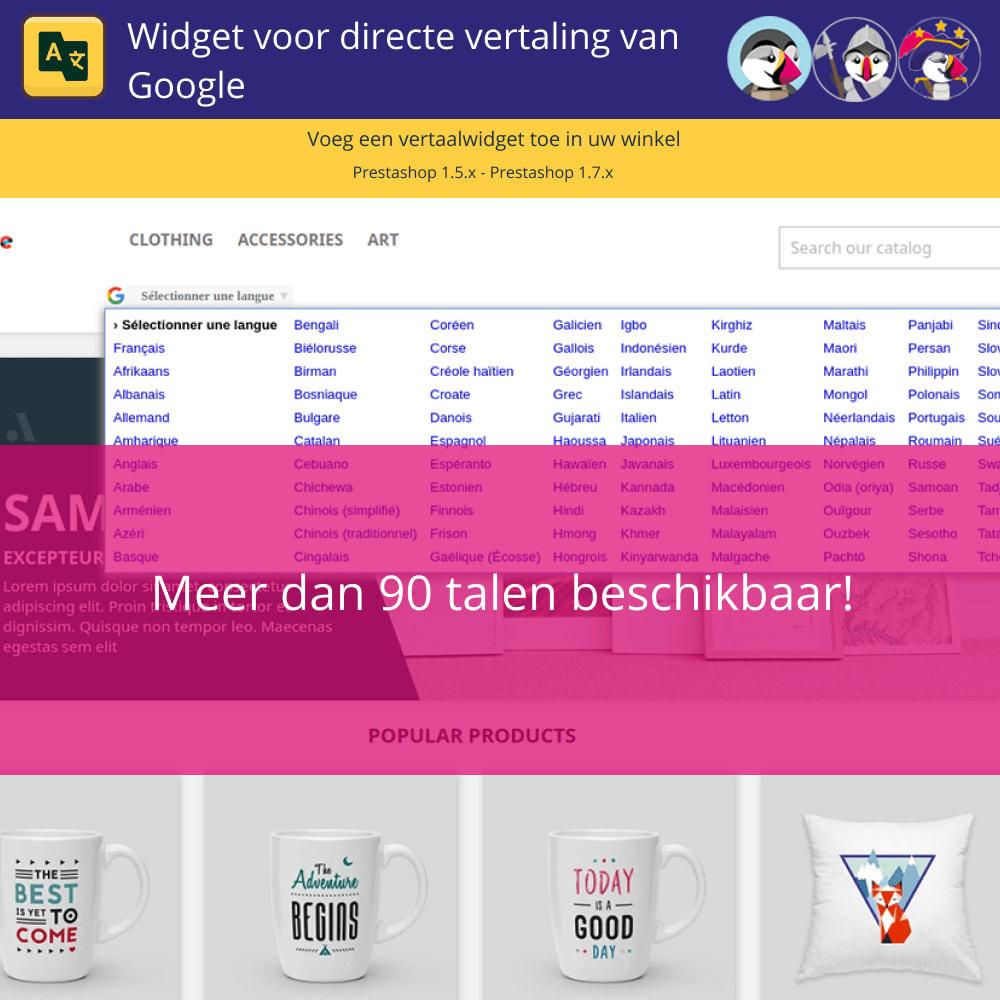 module - Internationaal & Lokalisatie - Google Translate Widget - 3