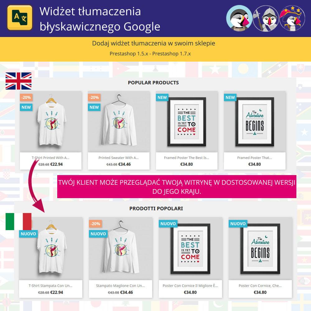 module - Międzynarodowość & Lokalizacja - Google Translate Widget - 1