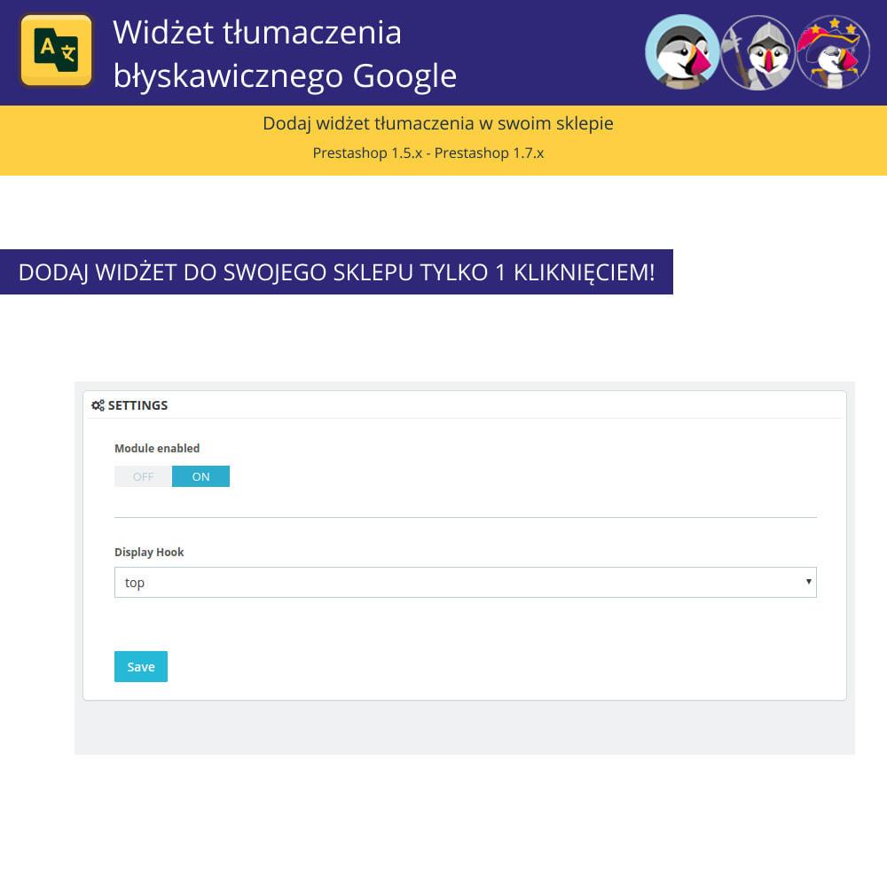 module - Międzynarodowość & Lokalizacja - Google Translate Widget - 2