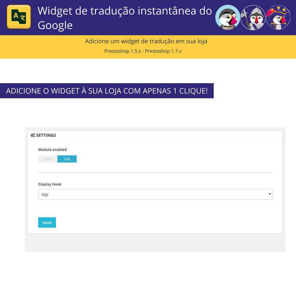 module - Internacional & Localização - Google Translate Widget - 2