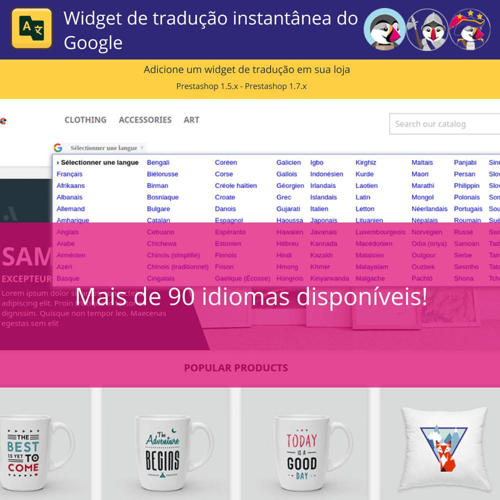 module - Internacional & Localização - Google Translate Widget - 3