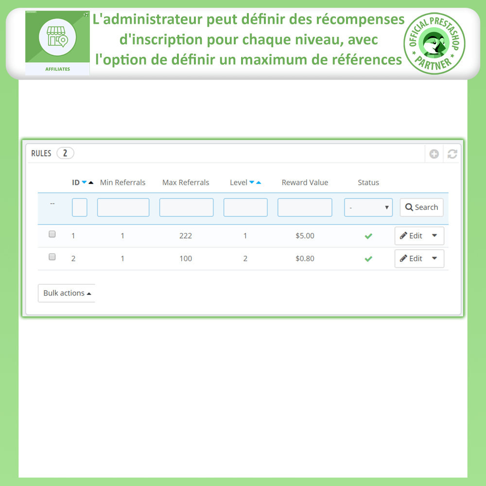 module - Référencement payant (SEA SEM) & Affiliation - Programme d'affiliation et de parrainage - 17