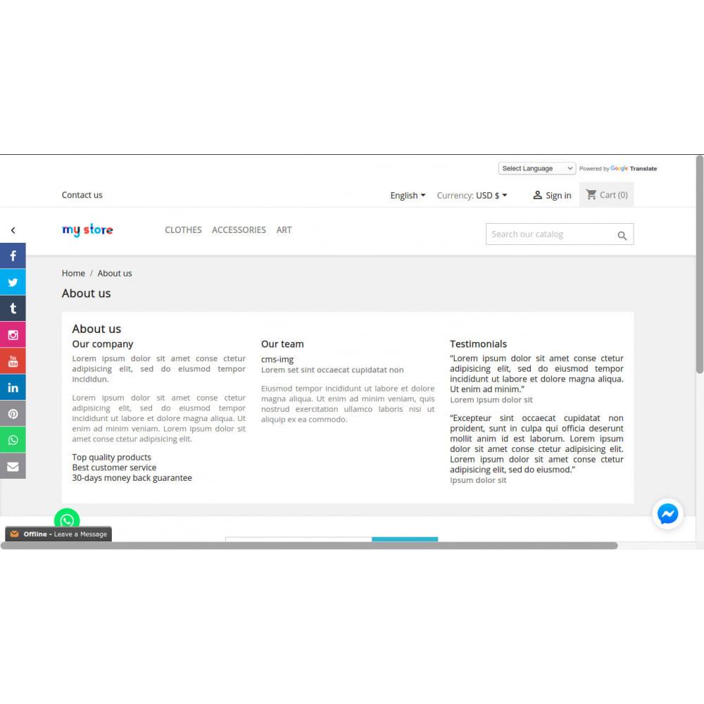 module - Widgets sozialer Netzwerke - Social Media Sidebar Links Buttons - 9