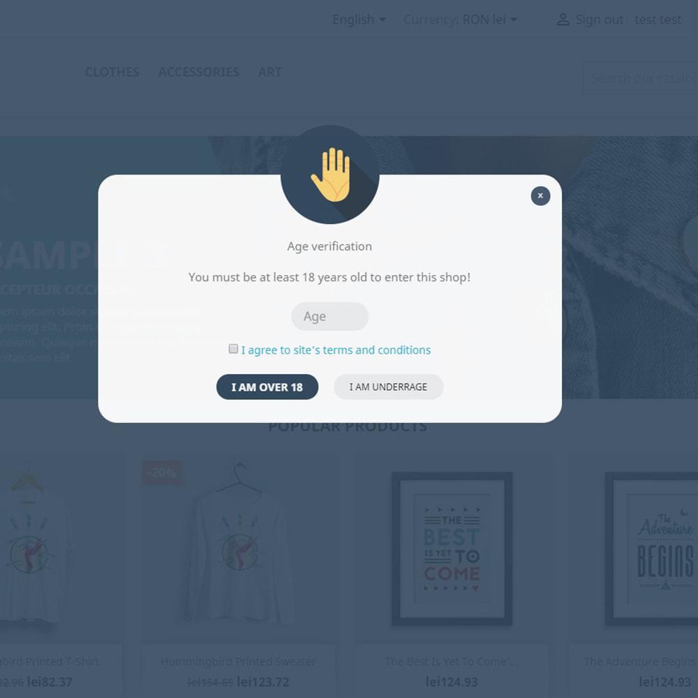 module - Seguridad y Accesos - Age verification - Smart age check for adult content - 8