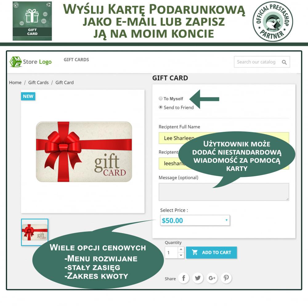 module - Lista życzeń & Karta podarunkowa - Karta Podarunkowa - 3