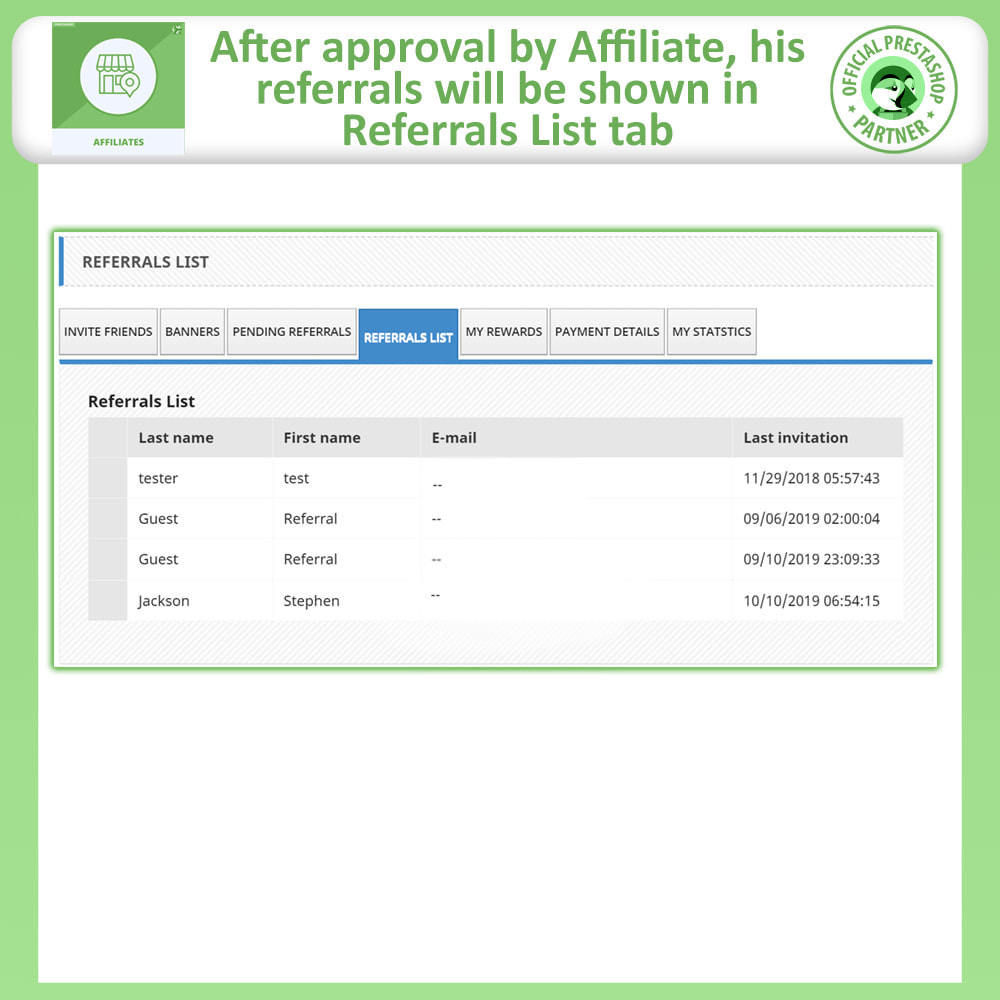 module - SEA SEM (paid advertising) & Affiliation Platforms - Affiliates Pro: Full Affiliate & Referral Program - 8
