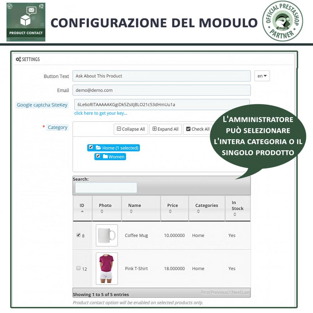 module - Form di contatto & Questionari - Contatti Prodotto – Modulo richieste - 6