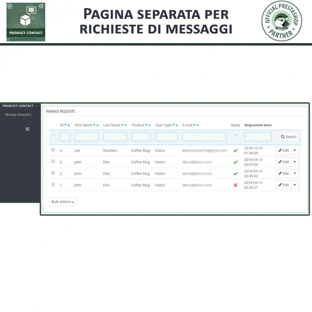 module - Form di contatto & Questionari - Contatti Prodotto – Modulo richieste - 7