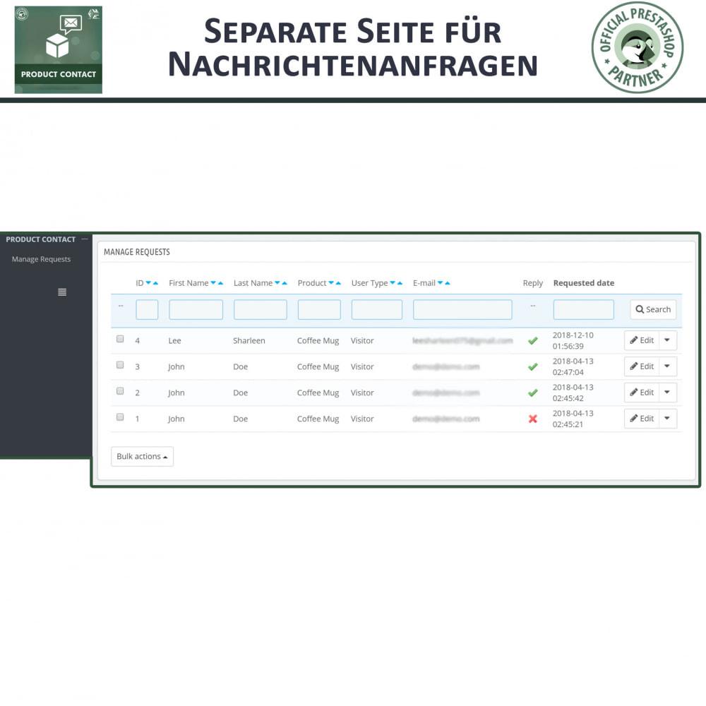 module - Kontaktformular & Umfragen - Produkt Kontakt - Anfrageformular - 7