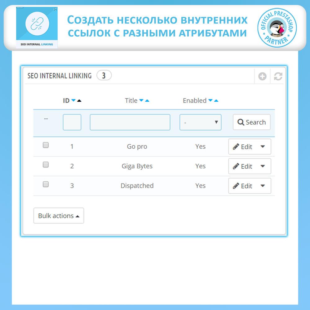 module - Естественная поисковая оптимизация - Внутренние SEO ссылки - 4