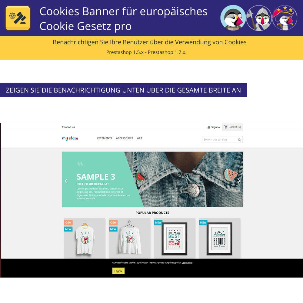 module - Rechtssicherheit - Pro Cookies Banner für das europäische Cookie-Gesetz - 4