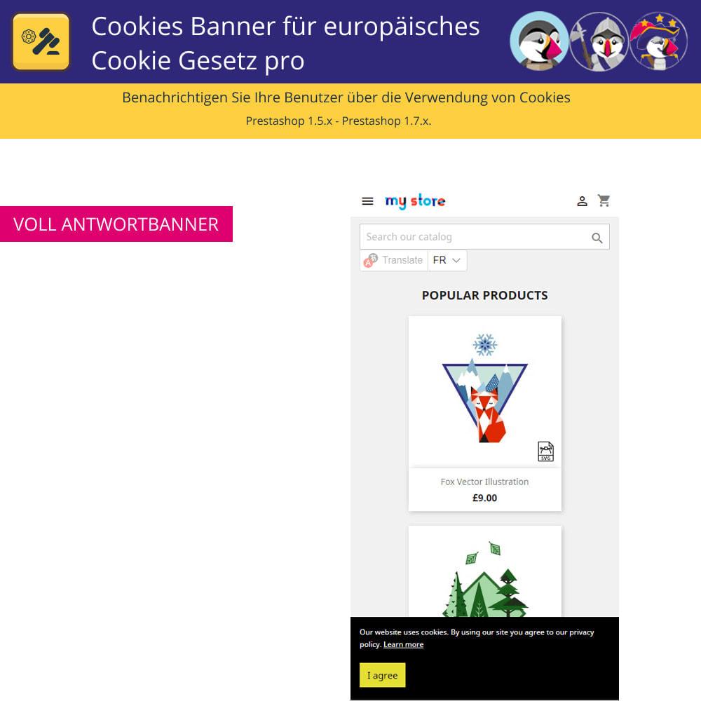 module - Rechtssicherheit - Pro Cookies Banner für das europäische Cookie-Gesetz - 5