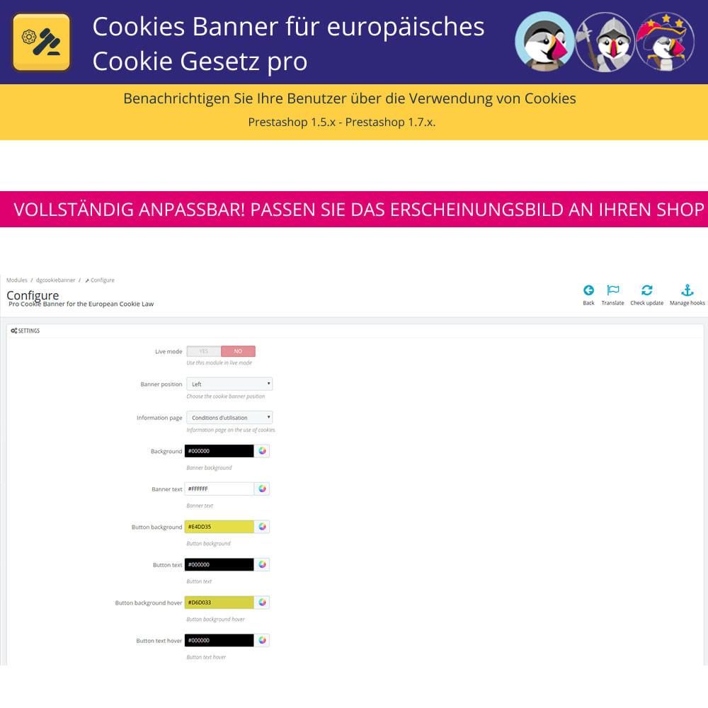 module - Rechtssicherheit - Pro Cookies Banner für das europäische Cookie-Gesetz - 6