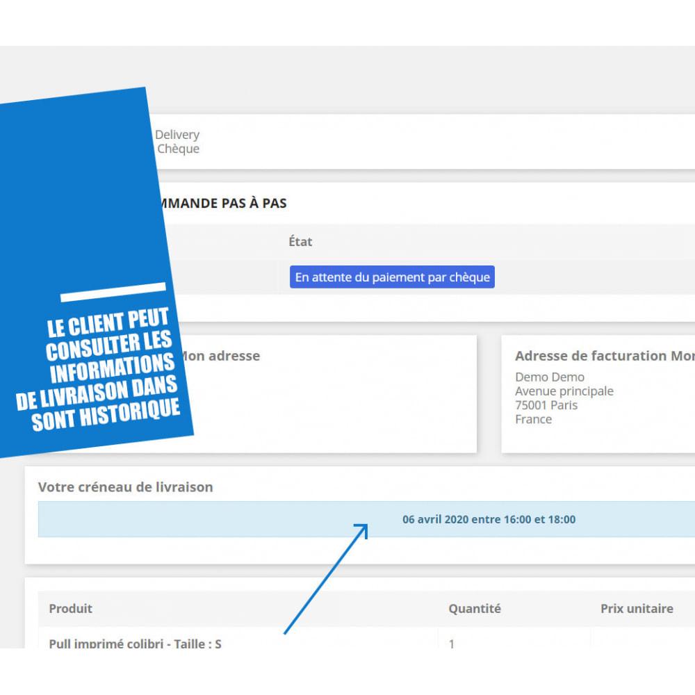 module - Date de livraison - Créneaux de livraison par zones, codes postaux et coût - 9