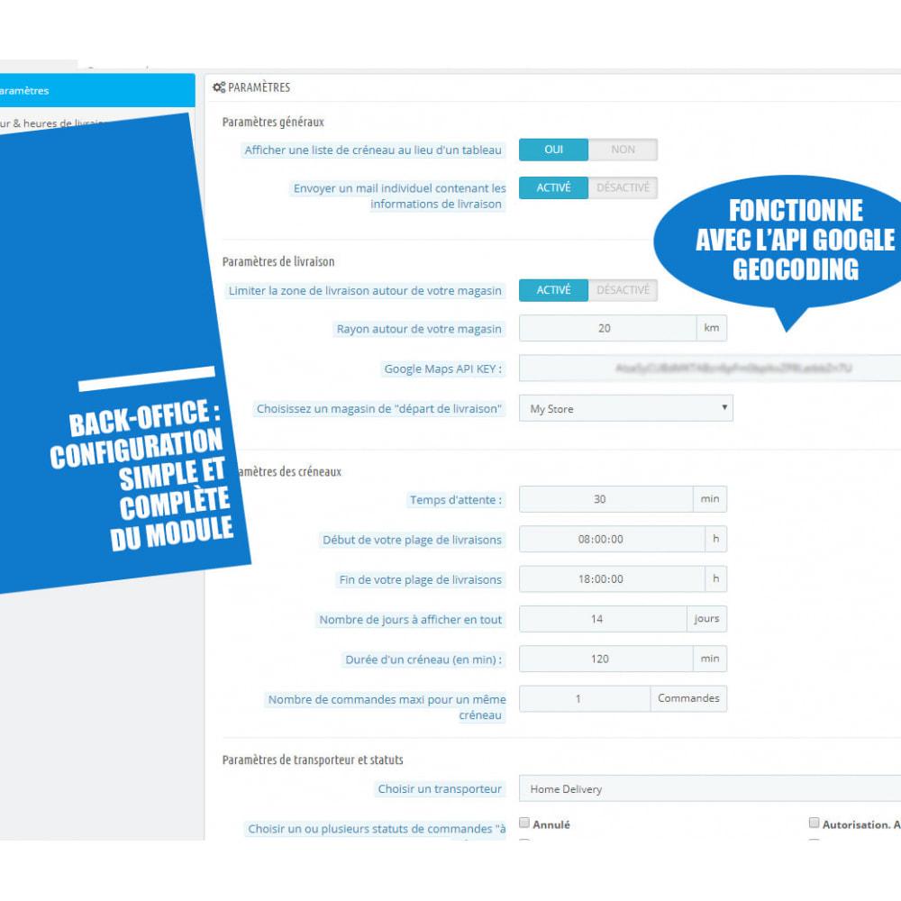 module - Date de livraison - Créneaux de livraison par zones, codes postaux et coût - 12