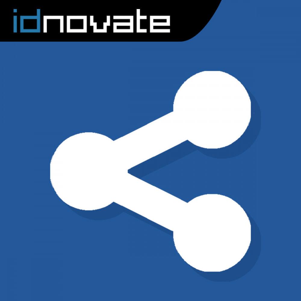 module - Produkte in Facebook & sozialen Netzwerken - Share on Social Network from the Backoffice - 1